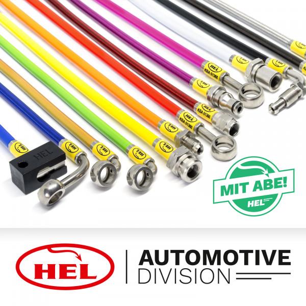 HEL Stahlflex Bremsleitungen 4-teilig Fiat Tipo ohne ABS 88-95, mit ABE