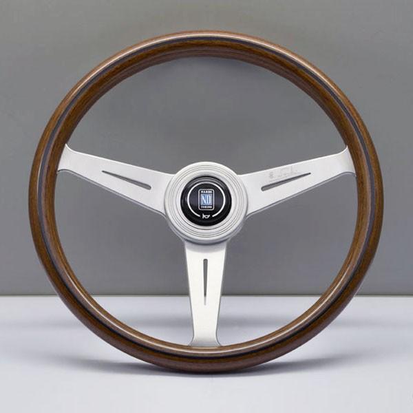 NARDI ND CLASSIC Holzlenkrad 360mm Silber/Holz, inkl. ABE, Ungeschüsselt