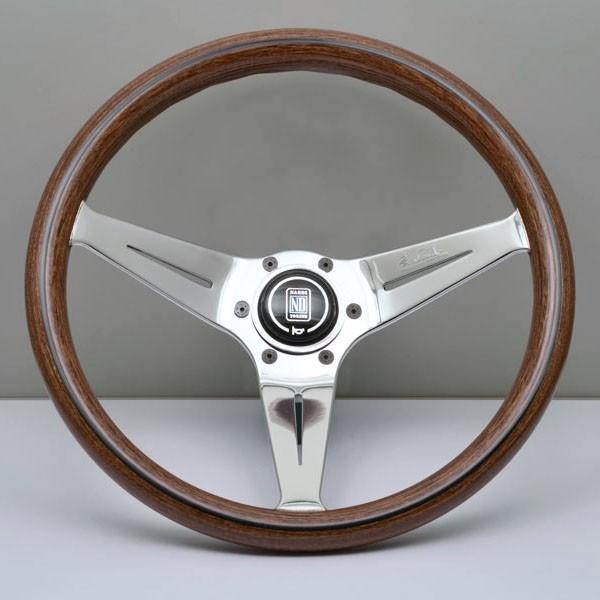 NARDI DEEP CORN Holzlenkrad 350mm Silber/Holz