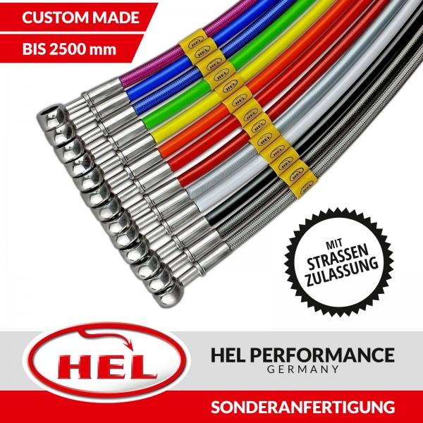 HEL Stahlflex Bremsleitung nach Maß bis 2500mm Sonderanfertigung mit Gutachten
