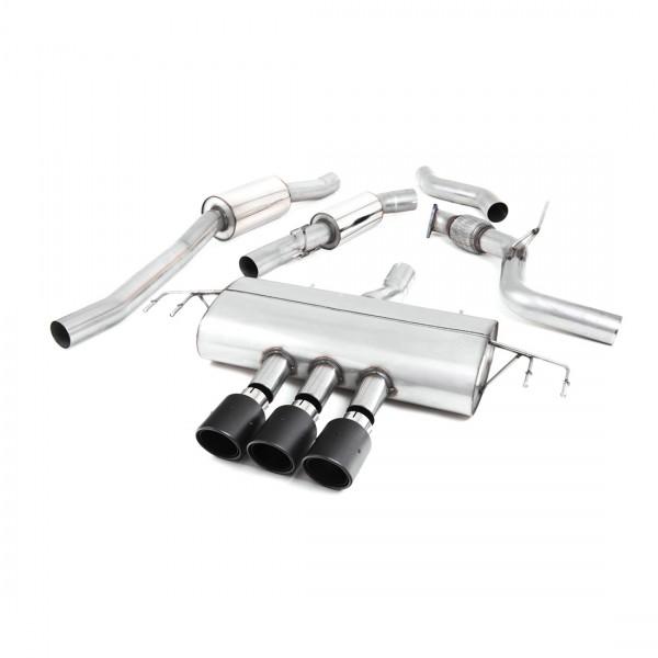 Milltek Anlage ab Kat mit Schalldämpfer für Honda Civic Type R FK8, mit ECE, Endrohre Carbon